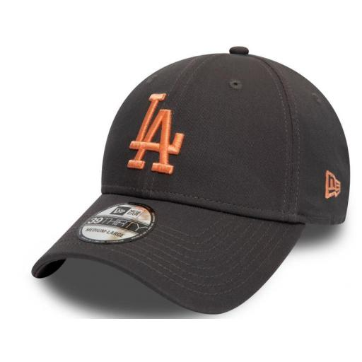 New Era Gorra Los Angeles Dodgers Essential 39Thirty Gris Oscuro