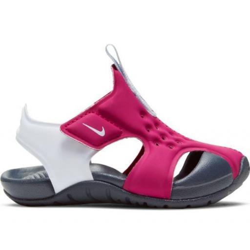 Sandalias Nike Sunray Protect 2 TD Velcro Rosa Oscuro/Blanco
