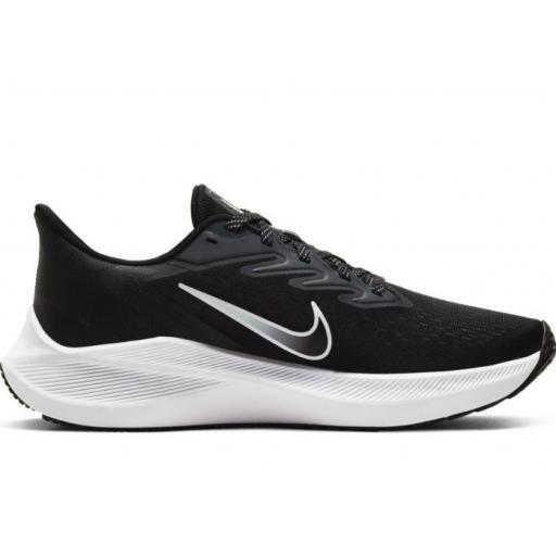 Zapatillas Nike Air Zoom Winflo 7 Negro/Blanco Mujer