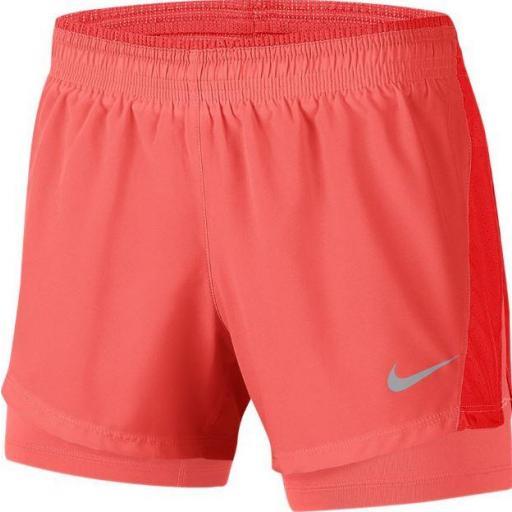 Nike Pantalón Corto con Malla 10K 2in1 Short Naranja