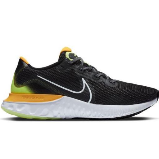 Zapatillas Nike Renew Run Negro/Verde/Naranja