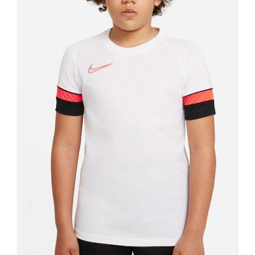 Camiseta Nike Dri-FIT Academy 21 Niños Blanca