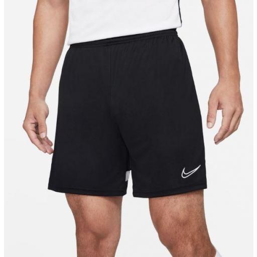 Pantalón Corto Nike Dri-FIT Academy 21 Hombre Negro/Blanco [1]
