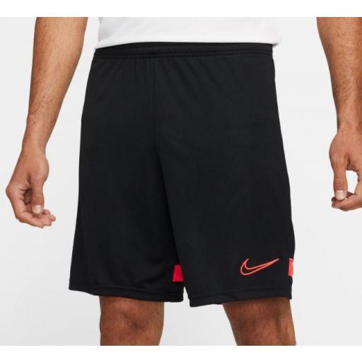 Pantalón Corto Nike Dri-FIT Academy 21 Short Negro/Naranja
