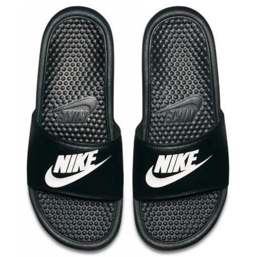 Chanclas Nike Benassi JDI Sandal Negra Blanca