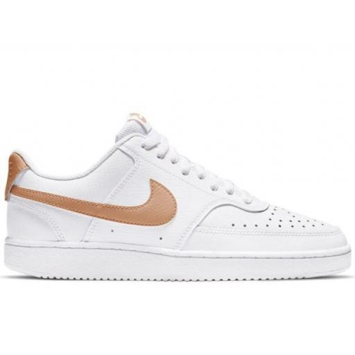 Zapatillas Nike Court Vision Low Mujer Blanco/Bronce