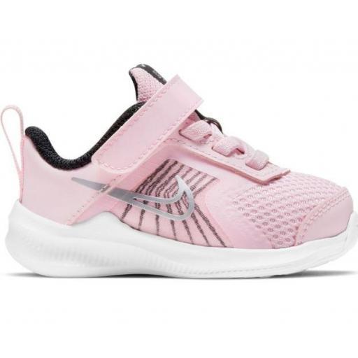 Zapatillas Nike Downshifter 11 TD Velcro Niña Pequeña Rosa