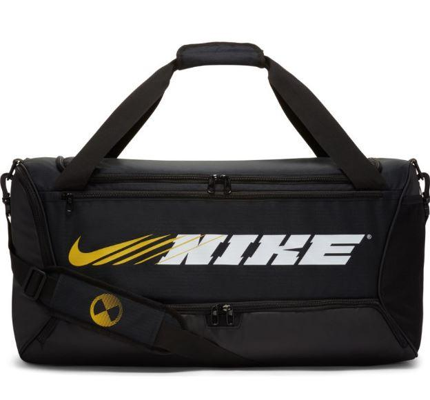 Mochila Deporte Nike Brasilia Graphic Duffel M Negra/Dorada
