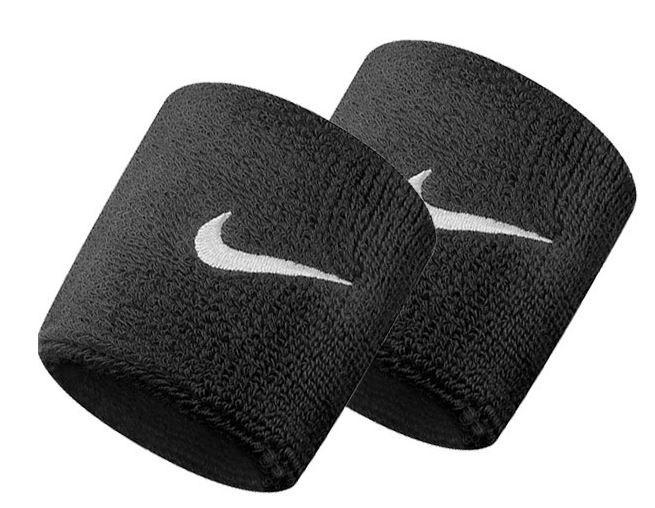 Muñequeras Nike Swoosh Wristband negro