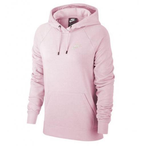 Sudadera Nike NSW Essential Hoodie PO FLC Rosa