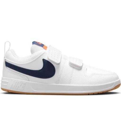 Zapatillas Nike Pico 5 PS Velcro Niños Blanca/Azul