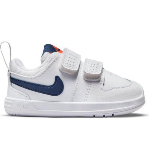 Zapatillas Nike Pico 5 TD Velcro Niño Pequeño Blanca/Azul