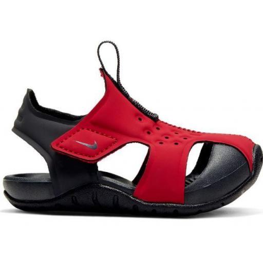 Nike Sandalias Sunray Protect 2 TD Velcro Rojo/Negro