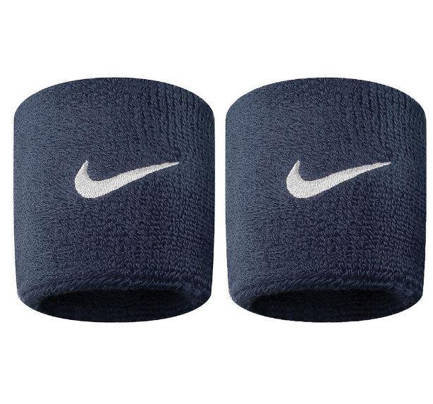 Muñequeras Nike Swoosh Wristband Azul Marino