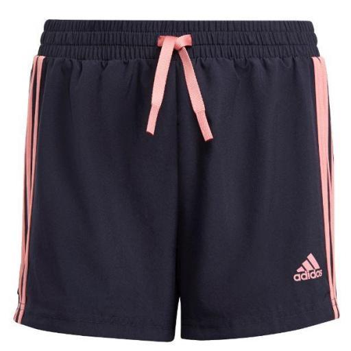 Pantalón Corto Adidas 3S Short Niña Azul/Rosa