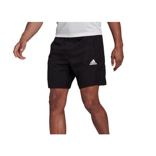 Pantalón Corto Adidas AeroReady Woven Short D2M Negro [1]