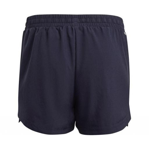 Pantalón Corto Adidas 3S Short Niña Azul/Rosa [2]