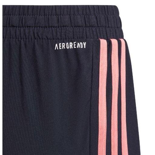 Pantalón Corto Adidas 3S Short Niña Azul/Rosa [1]