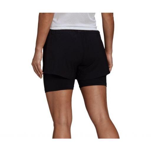 Adidas Pantalón Corto con Malla 2in1 Short Mujer [2]