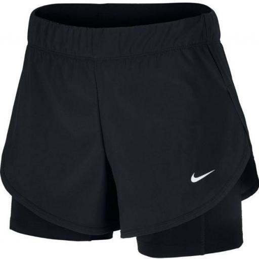 Nike Pantalón Corto con Malla Flex 2in1 Short Mujer