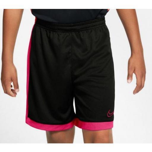 Nike Pantalón Corto Academy Dry Short Niños Negro/Rosa