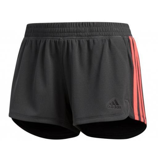 Pantalón Corto Adidas 3S Knit Pacer Short Gris
