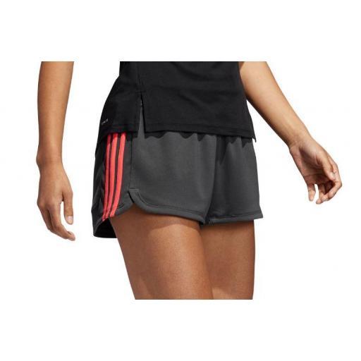 Pantalón Corto Adidas 3S Knit Pacer Short Gris [1]