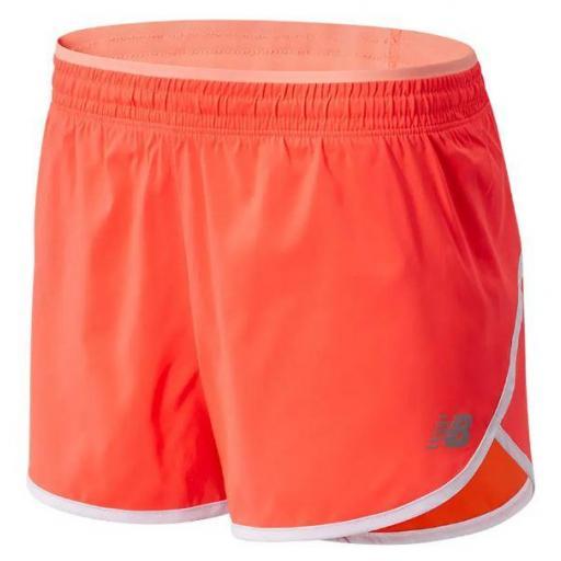 Pantalón Corto New Balance Accelerate Short 2.5 Coral