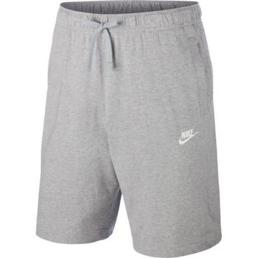 Pantalón Corto Nike Sportswear Club Short Jersey Gris