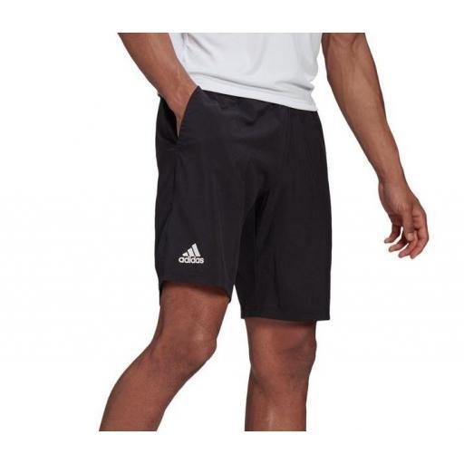 "Pantalón Corto Adidas Club Stretch Woven Short 7"" Negro"