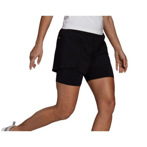 Adidas Pantalón Corto con Malla 2in1 Short Mujer [1]
