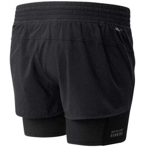 New Balance Pantalón corto con malla Impact Run 2in1 Negro [1]