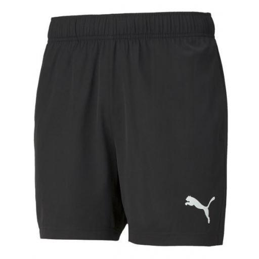 """Pantalón Corto Puma ACTIVE Woven Shorts 5"""" Negro"""