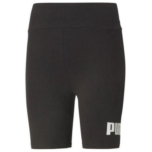 Malla Corta Puma ESS Logo Shorts Tights Negro/Blanco