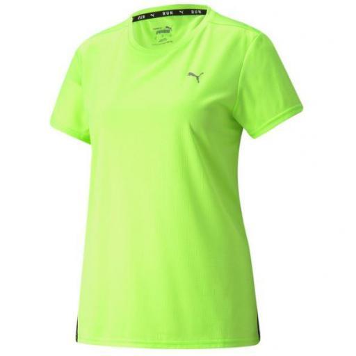 Puma Camiseta Run Favorite SS Tee Mujer Verde