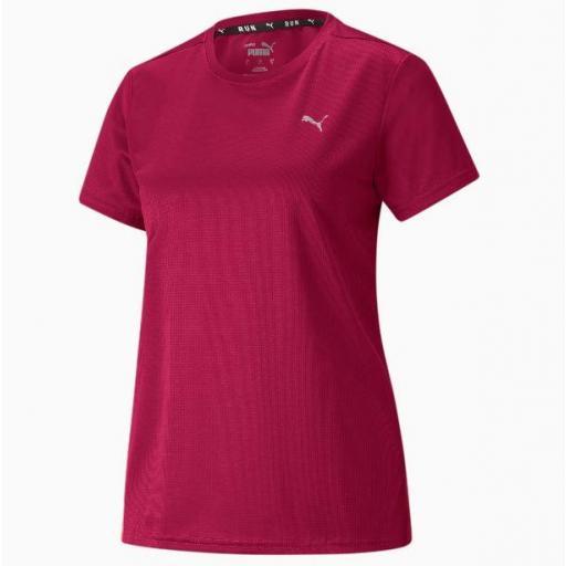 Puma Camiseta Run Favorite SS Tee Mujer Rojo Persa