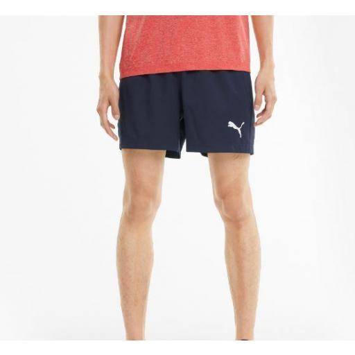 """Puma Pantalón Corto ACTIVE Woven Shorts 5"""" Azul [1]"""