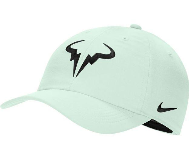 Nike Gorra Rafa Nadal AeroBill H86 Tenis Verde Claro/Negro