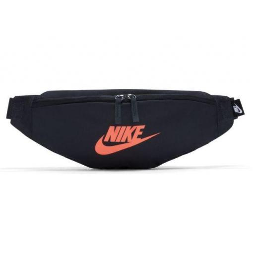 Riñonera Nike Heritage Hip Pack Negra/Naranja Coral [0]