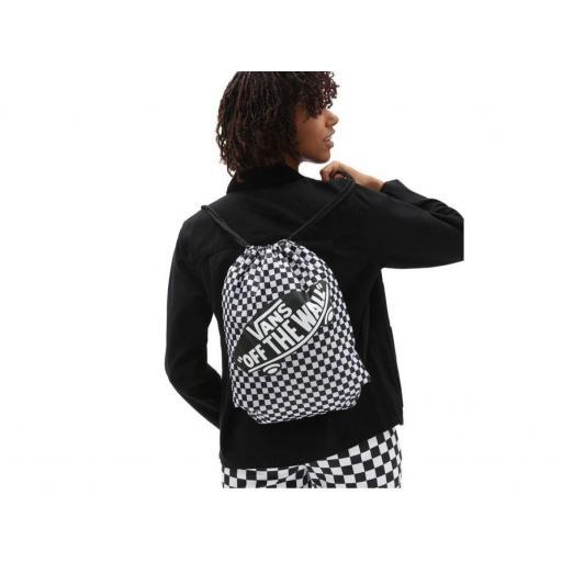 Bolsa Saco Vans Benched Bag Checker Cuadros Blanco/Negro [1]