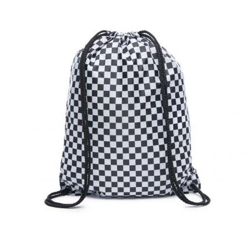 Bolsa Saco Vans Benched Bag Checker Cuadros Blanco/Negro [2]