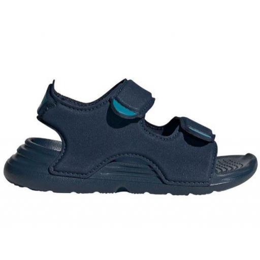 Sandalias Adidas Swim Sandal Velcro Niño Pequeño Azul