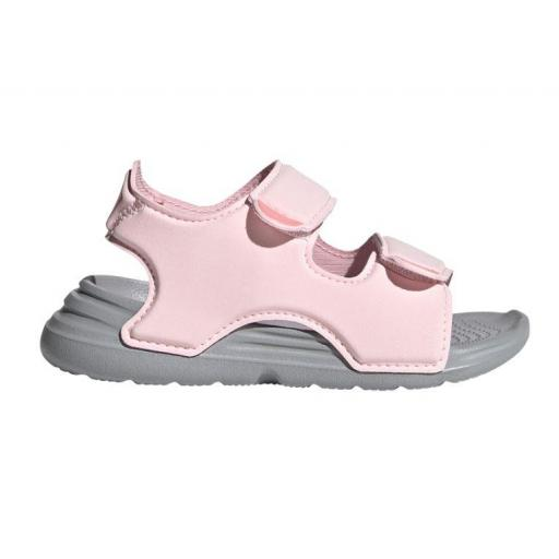 Sandalias Adidas Swim Sandal Velcro Niña Pequeña Rosa