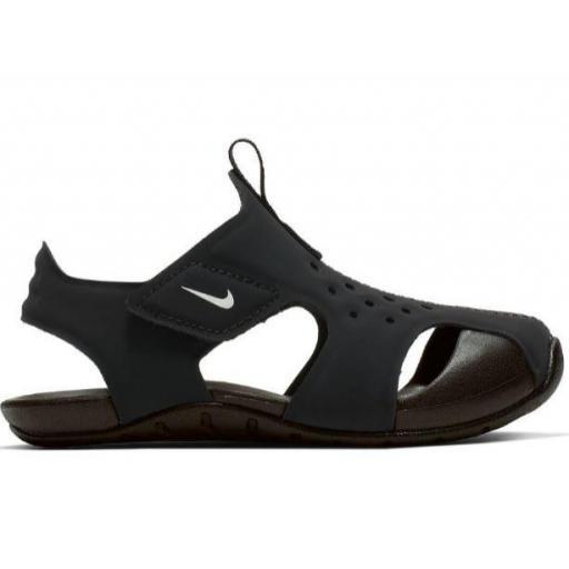 Sandalias Nike Sunray Protect 2 TD Niños Velcro Negro