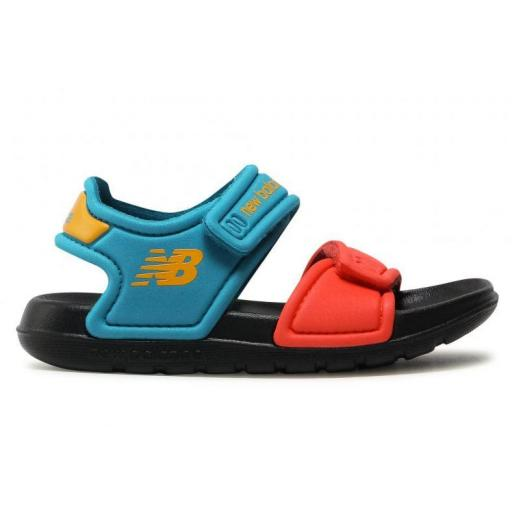 Sandalias New Balance Niño Pequeño Velcro Azul/Naranja