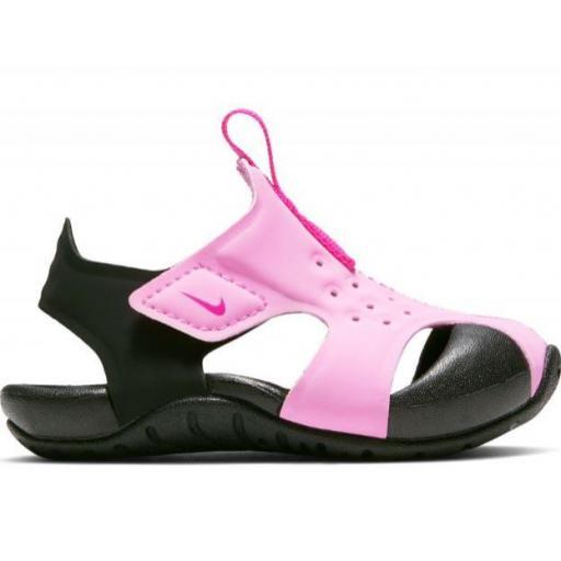 Sandalias Nike Sunray Protect 2 TD Niños Velcro Rosa Negro
