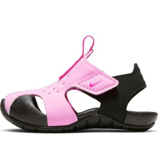 Sandalias Nike Sunray Protect 2 TD Niños Velcro Rosa Negro [1]