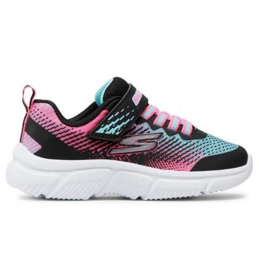 Zapatillas Skechers Go Run 650 Velcro Negro/Rosa/Azul [0]