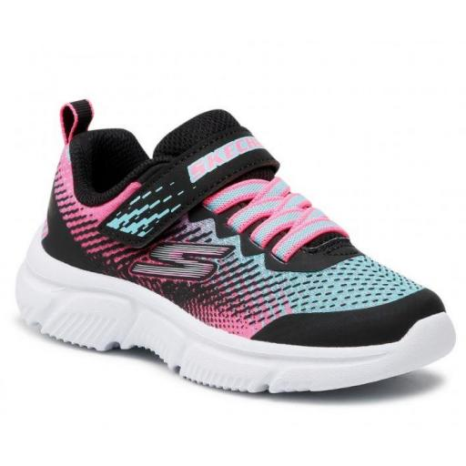 Zapatillas Skechers Go Run 650 Velcro Negro/Rosa/Azul [1]
