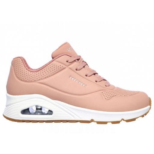 Skechers Zapatillas con Cuña UNO-Stand On Air Rosa